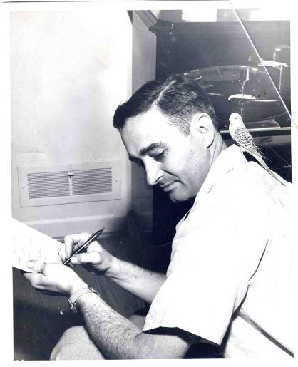 Andrew Glaze 1955 B'ham post herald. Interview with a parakeet.
