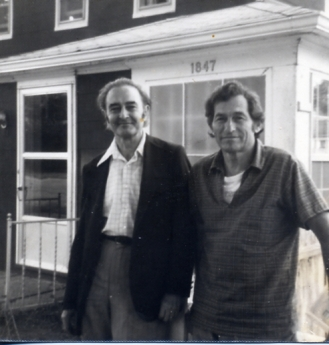 Andrew Glaze 1970's, visiting writer and good friend Norman Rosten